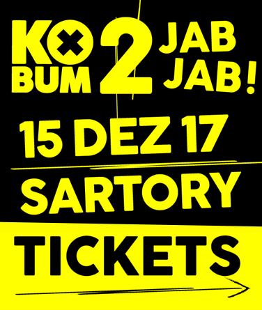 KOBUM 2 - am 15. Dezember im Sartory